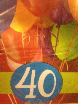 40th Birthday Luncheon Napkins