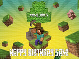 Minecraft Steve Edible Icing Sheet Cake Decor Topper