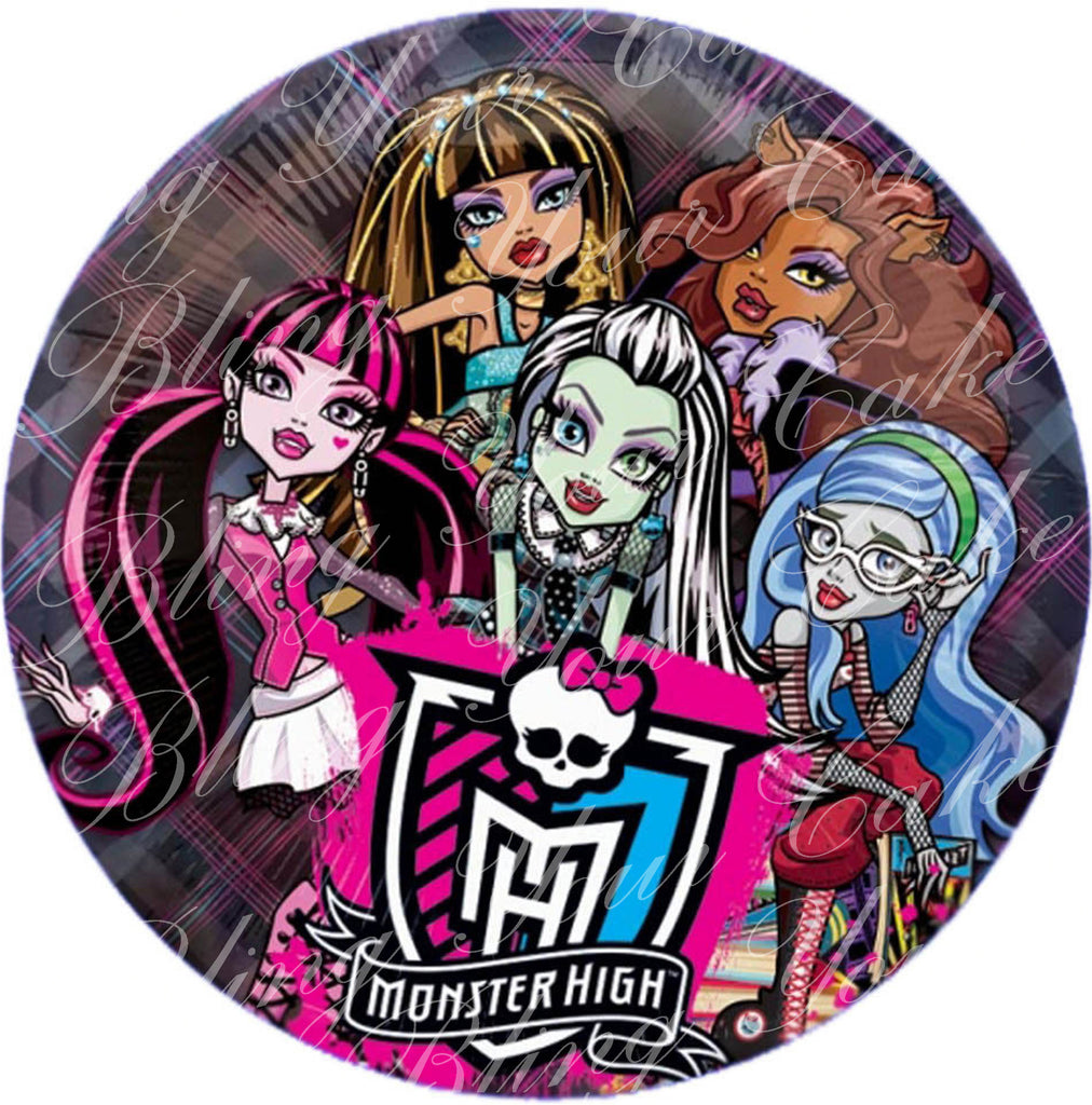 Monster High Edible Icing Cake Decor Toppers - MH3