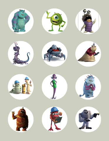 Monsters Inc Character Inspired Edible Icing Cupcake Bling Your Cake