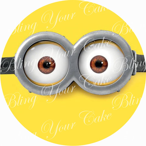 Minion Face Edible Icing Sheet Cake Decor Topper - MIN1