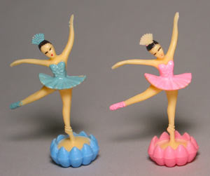 24 Ballerina Ballet Dancer with Rosebud Cupcake Toppers