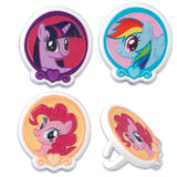 24 My Little Pony Cupcake Topper Rings