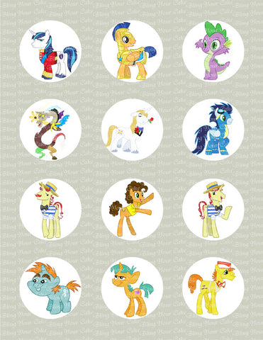 My Little Pony Bronies Male Pony Edible Icing Sheet Cupcake Decor Topper - MLP12C