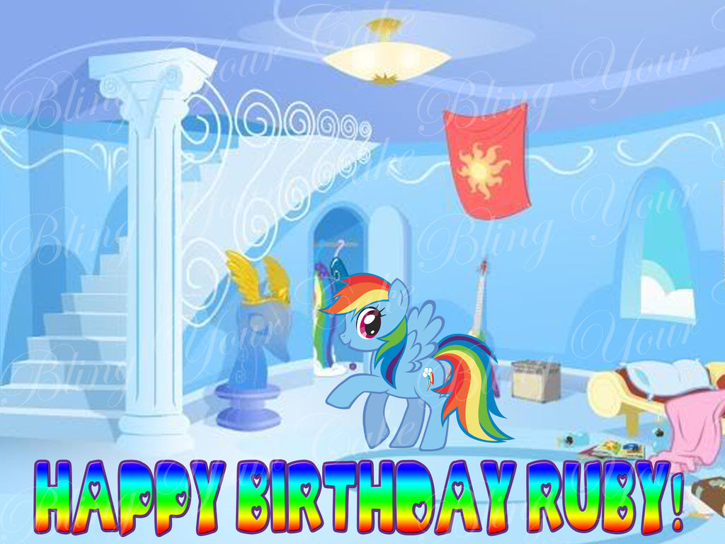 My Little Rainbow Dash Edible Icing Sheet Cake Decor Topper