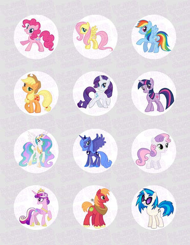 My Little Pony Edible Icing Sheet Cupcake Decor Topper - MLP9C