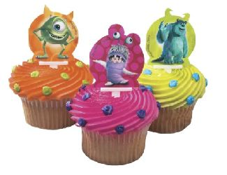 12 Monsters Inc Mike Sully And Boo Cupcake Topper Picks Bling Your Cake