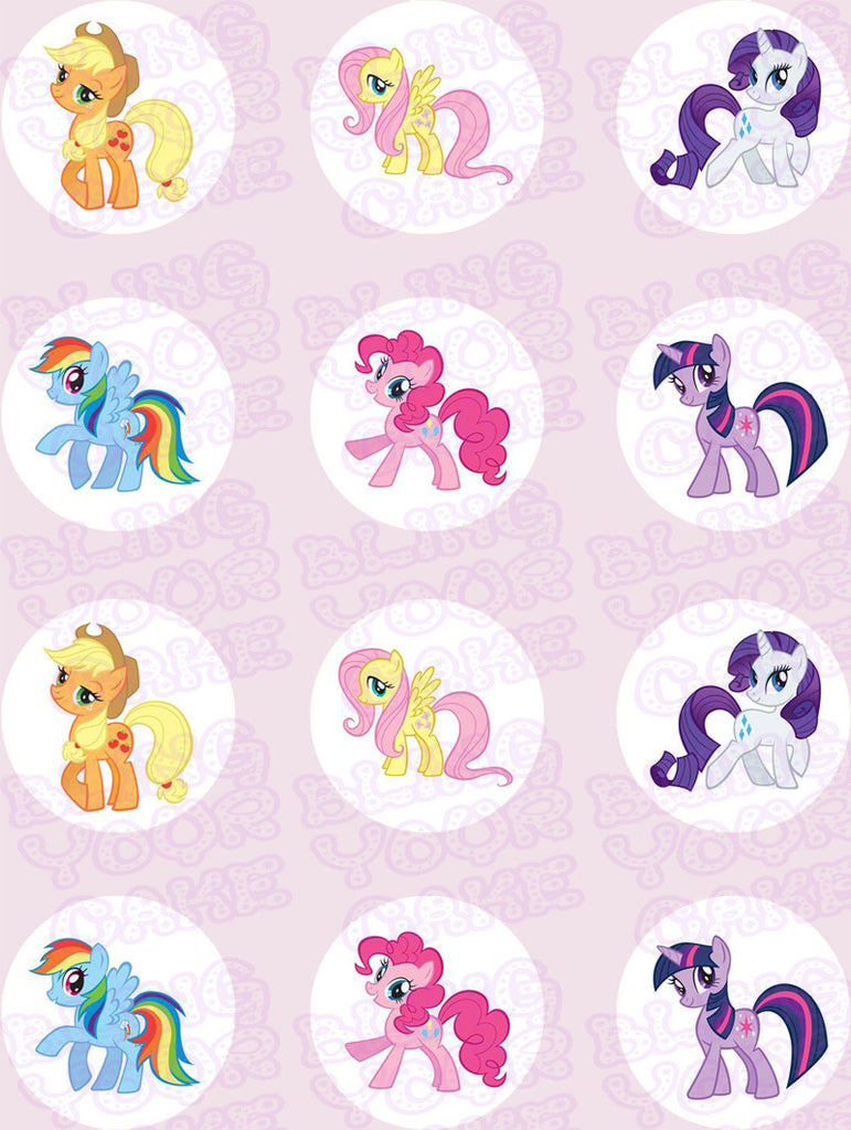 My Little Pony Mane 6 Edible Icing Sheet Cake Decor Topper - MLP1