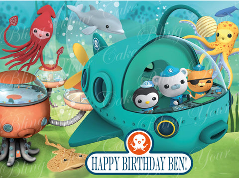The Octonauts Edible Icing Sheet Cake Decor Topper - OCT1