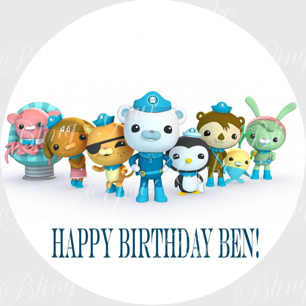 The Octonauts Edible Icing Sheet Cake Decor Topper - OCT3