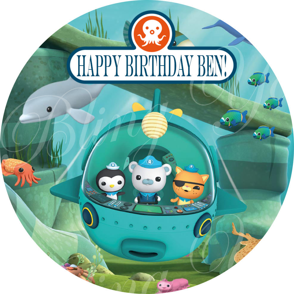 """OCTONAUTS 8/"""" Square Icing Image Edible Printed Cake Decoration Topper"""