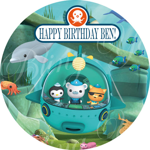 The Octonauts Edible Icing Sheet Cake Decor Topper - OCT4