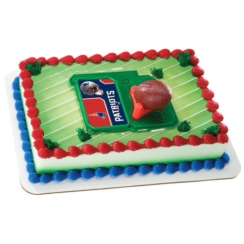 NFL Football & Tee Cake Decorating Kit Topper - New England Patriots