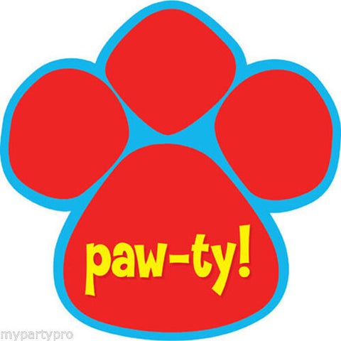 Paw-ty Time Puppy Paw Invitations