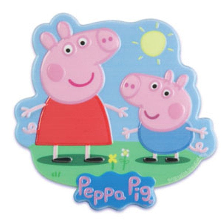Peppa Pig and George Cake Topper Plaque