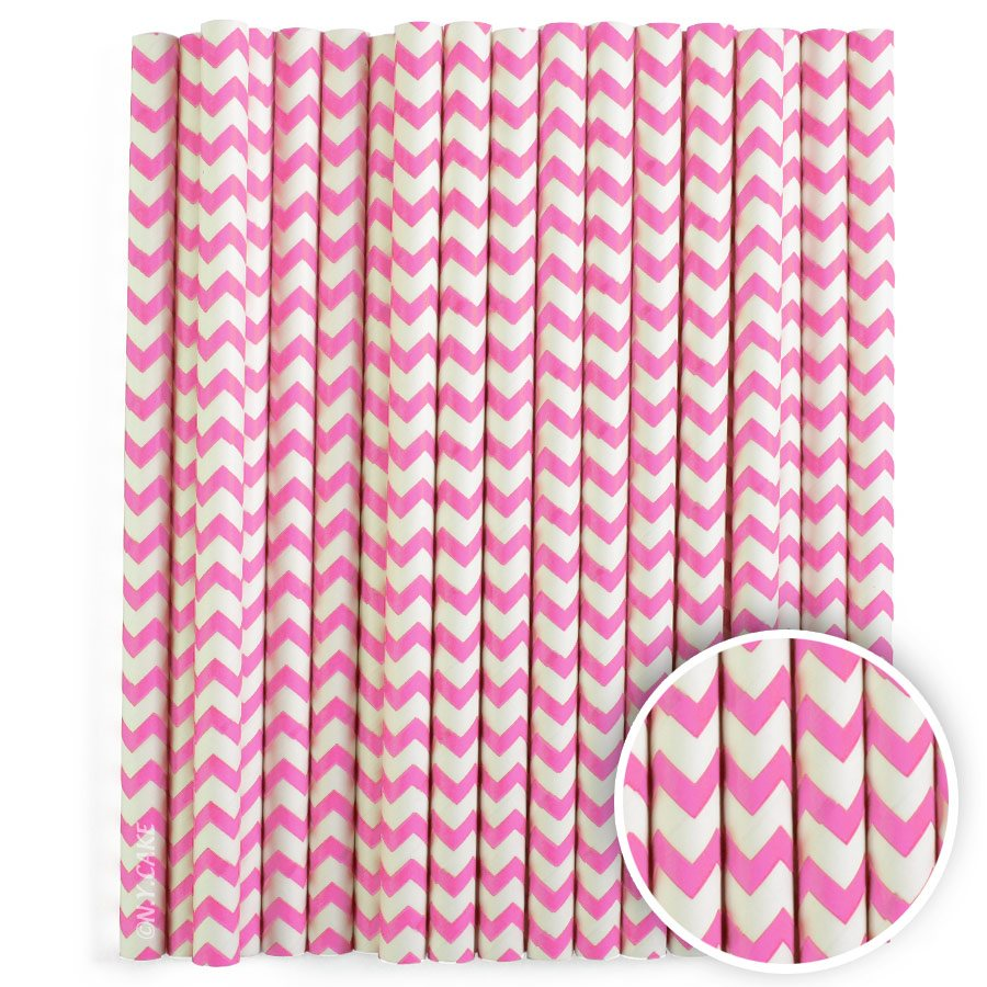Pink Chevron Cake Pop Sticks