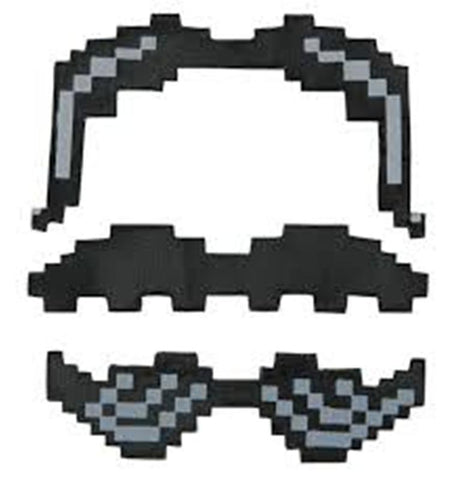 Pixel-8 Mustaches by Elope