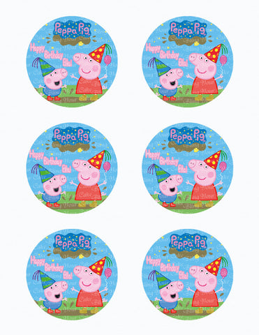 Peppa Pig & George Edible Icing Sheet Cake Decor Topper ...