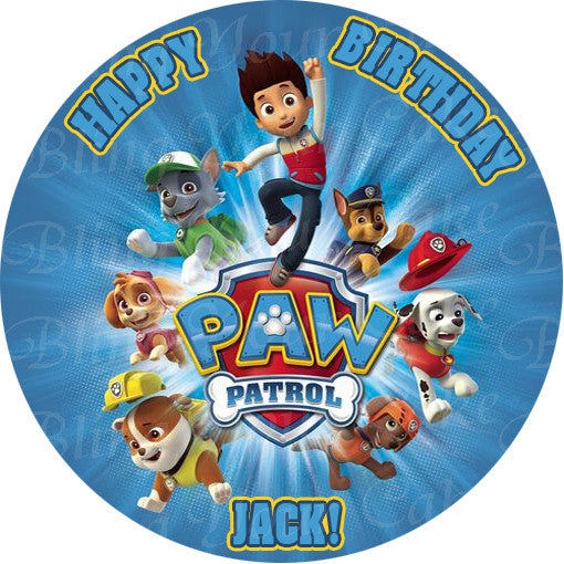 Paw Patrol Edible Icing Cake Decor Toppers - PP4