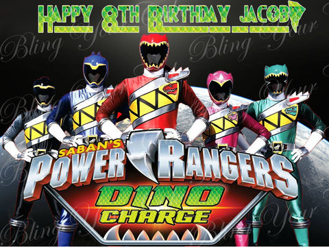 Power Rangers Dino Charge Edible Icing Sheet Cake Decor Topper - PWR1