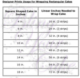 Black Music Notes Edible Icing Cake Wraps - MUS1