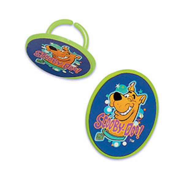 Scooby Doo Label Cupcake Topper Rings