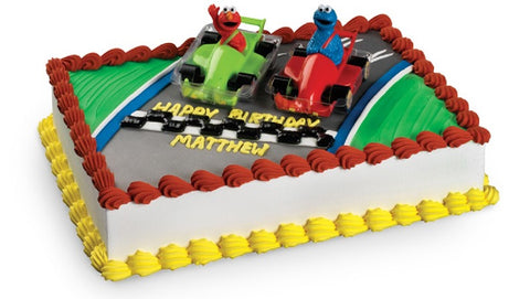 Sesame Street Elmo & Cookie Monster Racers Cake Topper Set