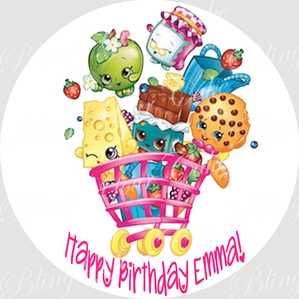 Shopkins Edible Icing Sheet Cake Decor Topper - SHOP2