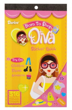 Born to Shop Diva Sticker Book by Darice