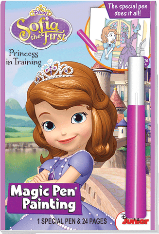 Disney Junior Sofia the First Princess in Training Magic Pen Painting Book