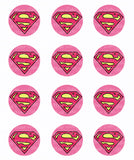 Supergirl Logo Inspired Edible Icing Cupcake or Cookie Decor Toppers - SPM5