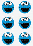 Sesame Street Cookie Monster Closeup Inspired Edible Icing Cake Decor Toppers - SS5