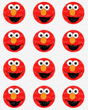 Sesame Street Elmo Closeup Inspired Edible Icing Cake Decor Toppers - SS6