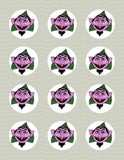 Sesame Street Count von Count Closeup Inspired Edible Icing Cake Decor Toppers