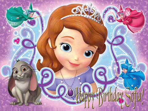 Sofia the First Edible Icing Sheet Cake Decor Topper - STF4