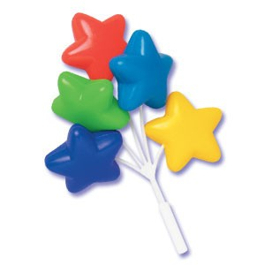 Bright Star Balloon Cluster Cake & Cupcake Picks