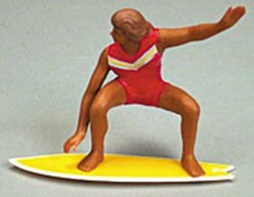 Surfer on Surfboard Cake Topper