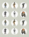 Star Wars Rebels Regiment Character Inspired Edible Icing Cupcake or Cookie Decor Toppers - SWR2