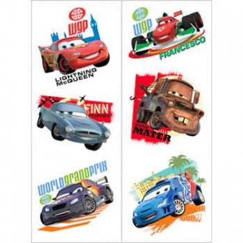 Disney Cars 2 Temporary Tattoos