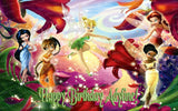 Disney Fairies Tinkerbell and Friends Edible Icing Sheet Cake Decor Topper - TINK2