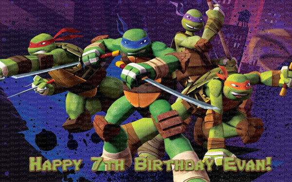 TMNT Teenage Mutant Ninja Turtles Edible Icing Sheet Cake Decor Topper - TMNT11