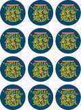 Teenage Mutant Ninja Turtles TMNT Inspired Edible Icing Cupcake Decor Toppers - TMNT2