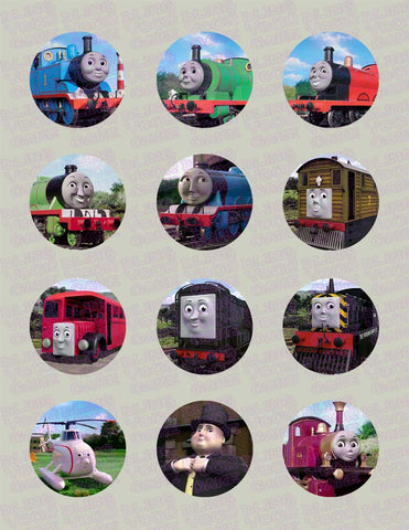 Thomas the Train & Friends Edible Icing Cupcake Decor Toppers - TT1C
