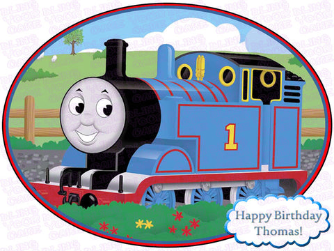 Thomas the Train Edible Icing Sheet Cake Decor Topper - TT2