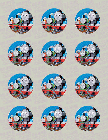 Thomas the Train, Percy & James Edible Icing Cupcake Decor Toppers - TT5C