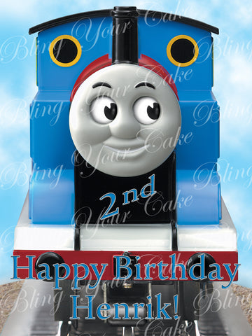 Thomas the Train Edible Icing Sheet Cake Decor Topper - TT9-2