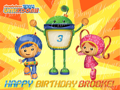 Team Umizoomi Edible Icing Sheet Cake Decor Topper - TUZ1
