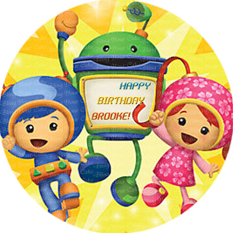 Team Umizoomi Edible Icing Sheet Cake Decor Topper - TUZ4