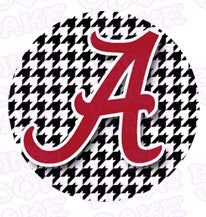 University of Alabama Houndstooth Edible Icing Sheet Cake Decor Topper - UA2