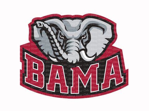University of Alabama Big Al Edible Icing Sheet Cake Decor Topper - UA6